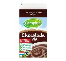 Campina chocolade vla 1/2 liter pak