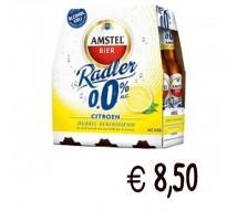 Amstel radler bier lemon fles 0% krat 24 x 30 cl