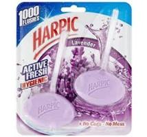 Harpic max hygienic plus lavendel oplos blokje 2 stuks