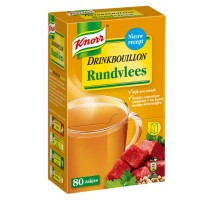 Knorr drink bouillon rundvlees 80 sticks