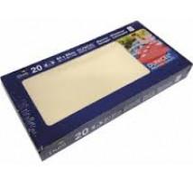 Dunicel napperon wit 84 x 84 cm 14 stuks