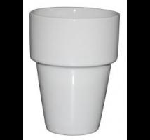 Melkbeker white stapelbaar 21 cl per stuk