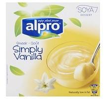Alpro dessert vanille 6 pakken x 4 stuks x 125 gram