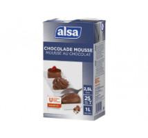 Alsa chocolade mousse poeder pak 1 kilo 8 liter