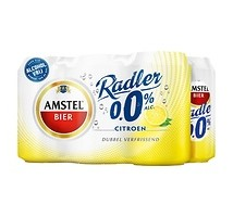 Amstel radler bier lemon 0% 24 blikjes x 33 cl