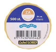 Aqualabel haccp zaterdag stickers rol 500 stuks