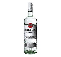 Bacardi carta blanca fles 1 liter