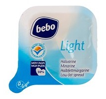 Bebo boter light halvarine doos 400 stuks