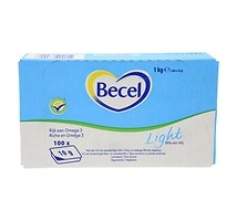 Becel boter light 38% cups 100 x 10 gram