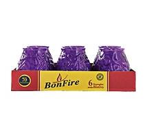 Bonfire kaarsglas bistro paars 6 stuks