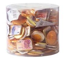 Chocolade munten en biljeten netje 20 x 100 gram