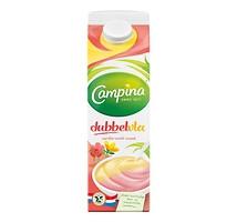 Campina dubbelvla aardbei vanille literpak