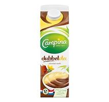 Campina dubbelvla chocola vanille literpak