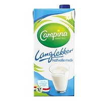 Campina houdbare halfvolle melk 1 x 1 liter