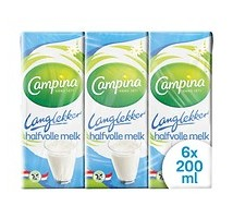 Campina houdbare halfvolle melk mini 30 stuks