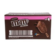 M&M's chocobar roomijs doos 25 stuks