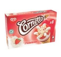 Ola cornetto mini aardbeien 6 stuks
