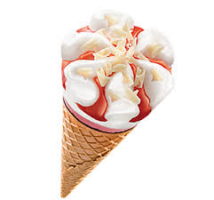 Ola cornetto aardbeien 24  x 120 ml