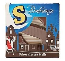 Bonbiance melk chocolade schoen letter 6 stuks a 40 gram
