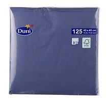 Dunicel servetten blauw 3 laags 40 x 40 cm 125 stuks