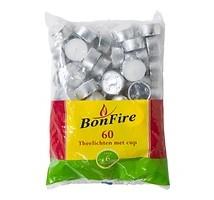Bonfire waxine lichtjes 60 stuks  6 branduren